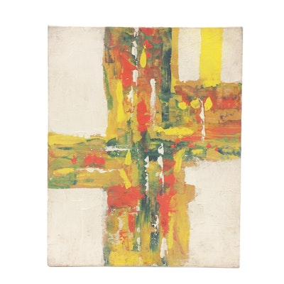 Vernon Rader Abstract Oil Painting