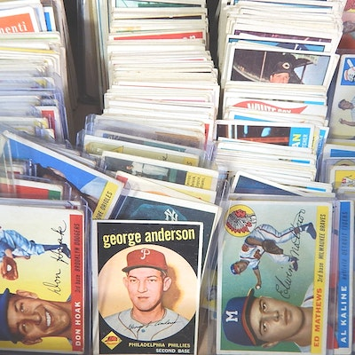 Baseball Cards with 1959 #461 Topps Mantle and #380 Aaron, 1950s-1961