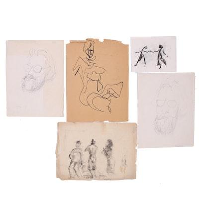 Paul Chidlaw Figure Study Drawings