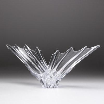 Art Vannes France Crystal Center Bowl