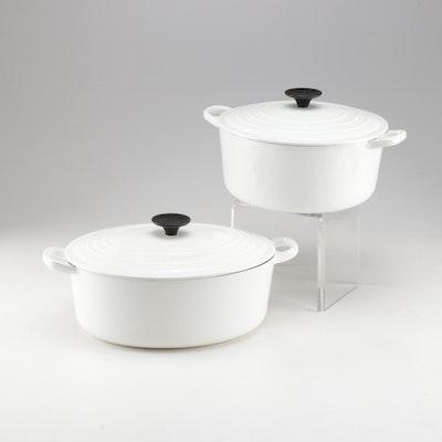 Le Creuset for Williams-Sonoma White Enamel Cookware
