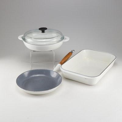 Williams-Sonoma Le Creuset White Enameled Cast Iron Cookware