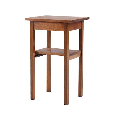 Arts and Craft Oak Occasional Table, Early 20th Century