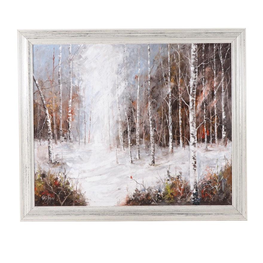 Gaston Landscape Oil Painting