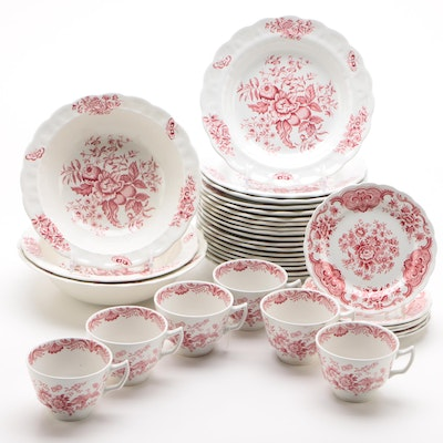 """Booth's """"Peony"""" Porcelain and Other Porcelain Dinnerware, Vintage"""