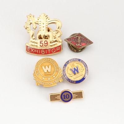 Assorted Gold Tone Enamel Lapel Pins
