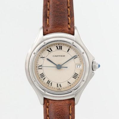 Cartier Cougar Panthère Stainless Steel Quartz Wristwatch