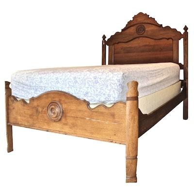 Victorian Full Size Walnut Bed Frame, Circa 1890