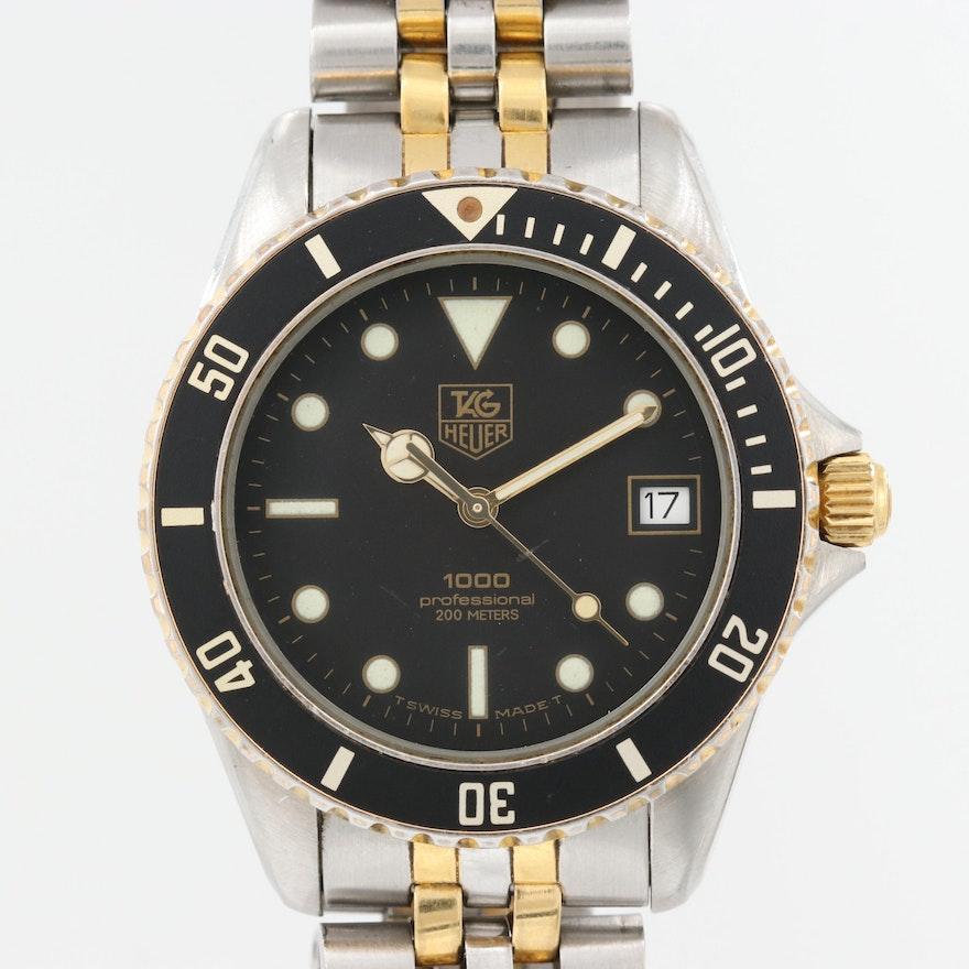 the best attitude 84cd9 389d4 Vintage TAG Heuer 1000 Two Tone Quartz Wristwatch