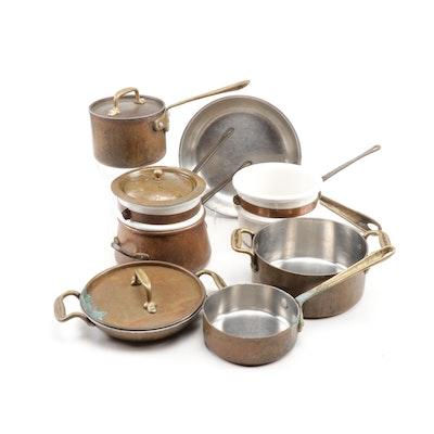 B&M Douro & Cop R Chef Vintage All-Clad Copper & Porcelain Cookware