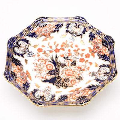 """Royal Crown Derby """"Kings"""" Porcelain Footed Bowl, Late 19th Century"""