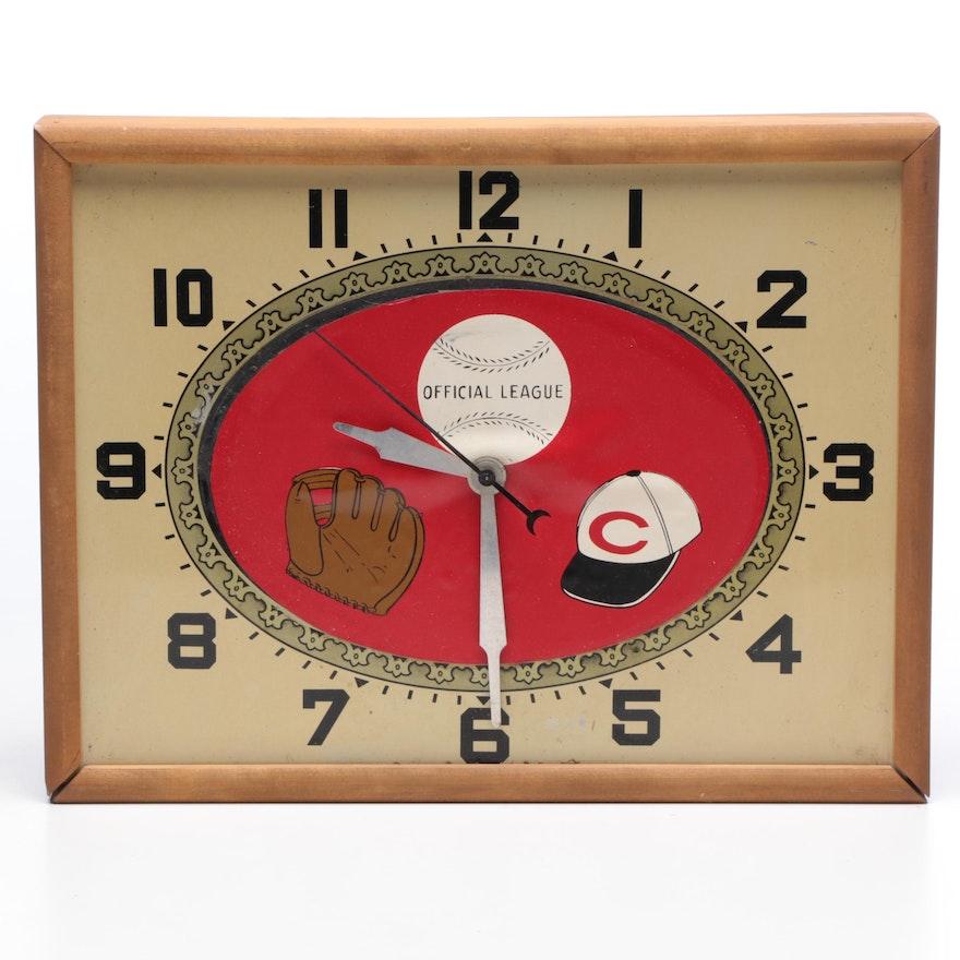 Official League Cincinnati Reds Baseball Wall Clock Mid To Late 20th Century Ebth