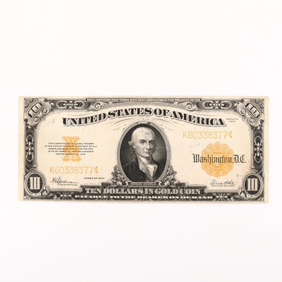 1922 $10 United States Gold Certificate