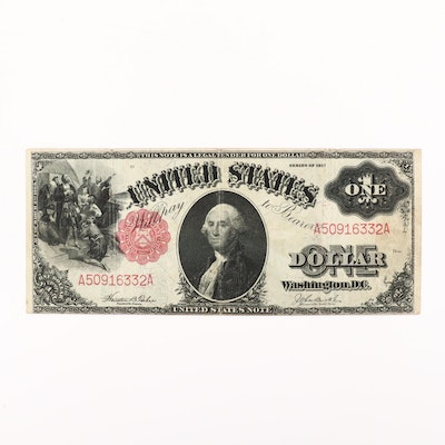 1917 $1 United States Note Featuring Signatures of Teehee/Burke