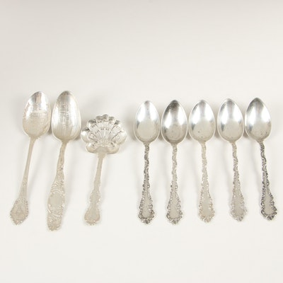 "Wendell ""Junior Rococo"" Sterling Silver Teaspoons and Other Flatware"