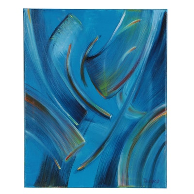 Husidio John Tempest Abstract Oil Painting