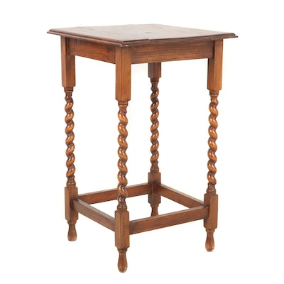 William and Mary Style Oak Table, Circa 1920