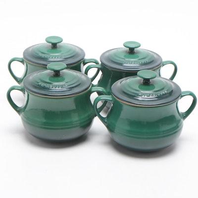 Le Creuset Mini Round Cocottes in Emerald Green