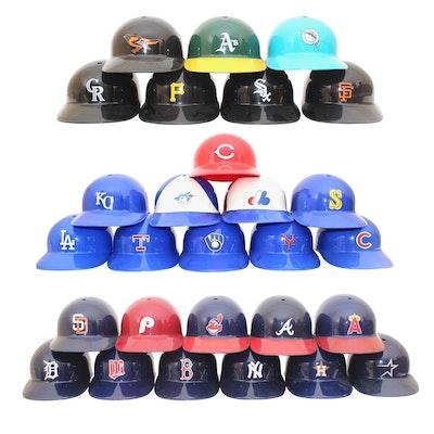 Vintage Baseball Helmet Collection
