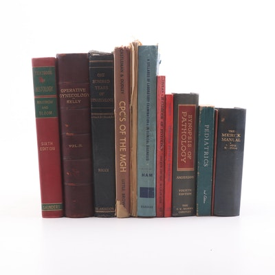 Vintage Medical Books Including Pathology, Pediatrics and Gynecology