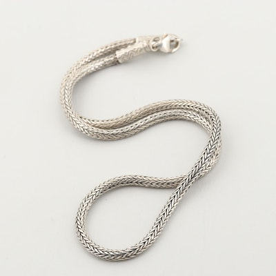 Sterling Silver Bali Chain Necklace
