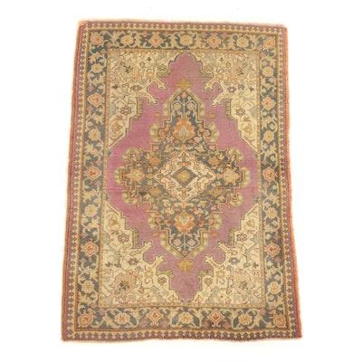 Hand-Knotted Turkish Isparta Wool Area Rug