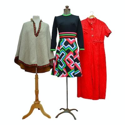 Lanz Original Poncho, Jumpsuit and Dress, Vintage