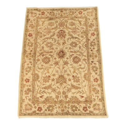 Hand-Knotted Afghan Peshawar Wool Area Rug