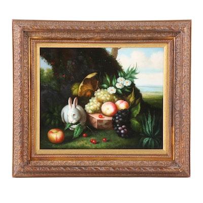 S. Nelson Still Life Oil Painting
