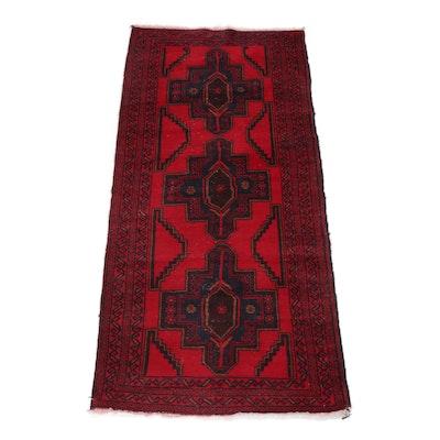 Hand-Knotted Caucasian Kazak Rug
