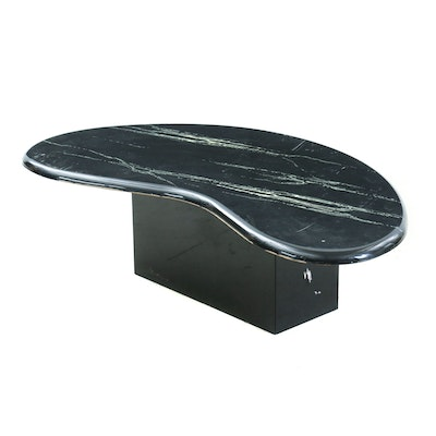 Contemporary Cultured Stone Coffee Table