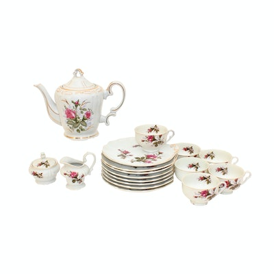 Porcelain Music Box Teapot and Serveware