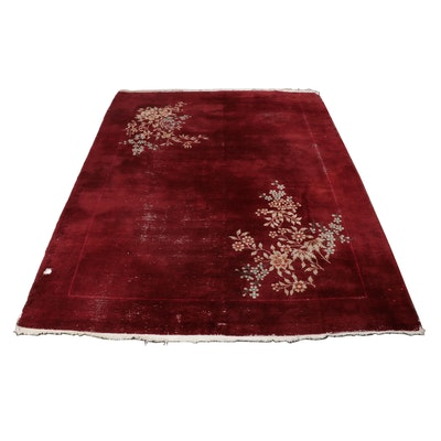 Hand-Knotted Chinese Nichols Style Room Sized Rug, Circa 1930