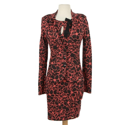 Rinascimento Rayon Blend Knit Dress with Matching Jacket