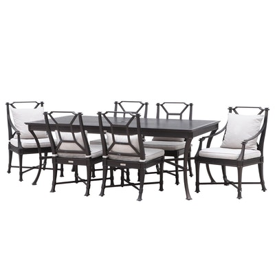 "Restoration Hardware ""Antibes"" Outdoor Dining Table and Chairs"