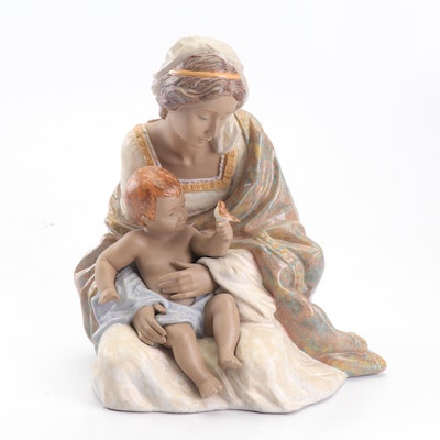 "Lladró ""Loving Mother"" Matte Porcelain Figurine"