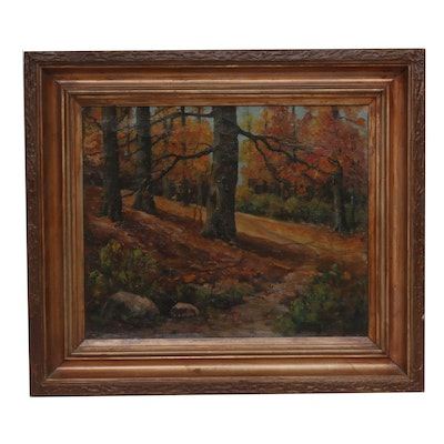 Mid-Late 20th Century Landscape Oil Painting