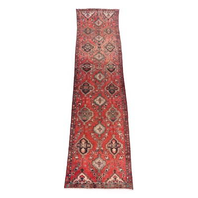 Hand-Knotted Persian Wool Carpet Runner