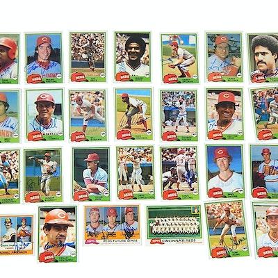 1981 Cincinnati Reds Team Signed Baseball Cards