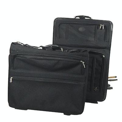 Two-Piece Set of Atlantic Rolling Black Nylon Luggage