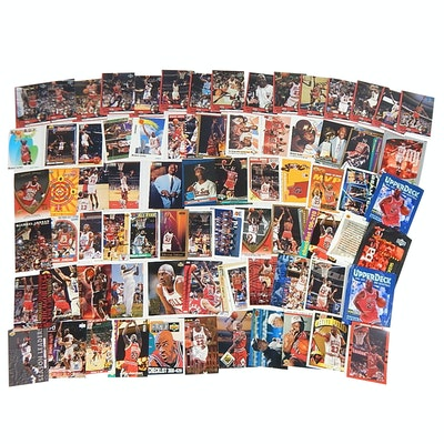 Michael Jordan Sports Cards with Rookie Baseball Card