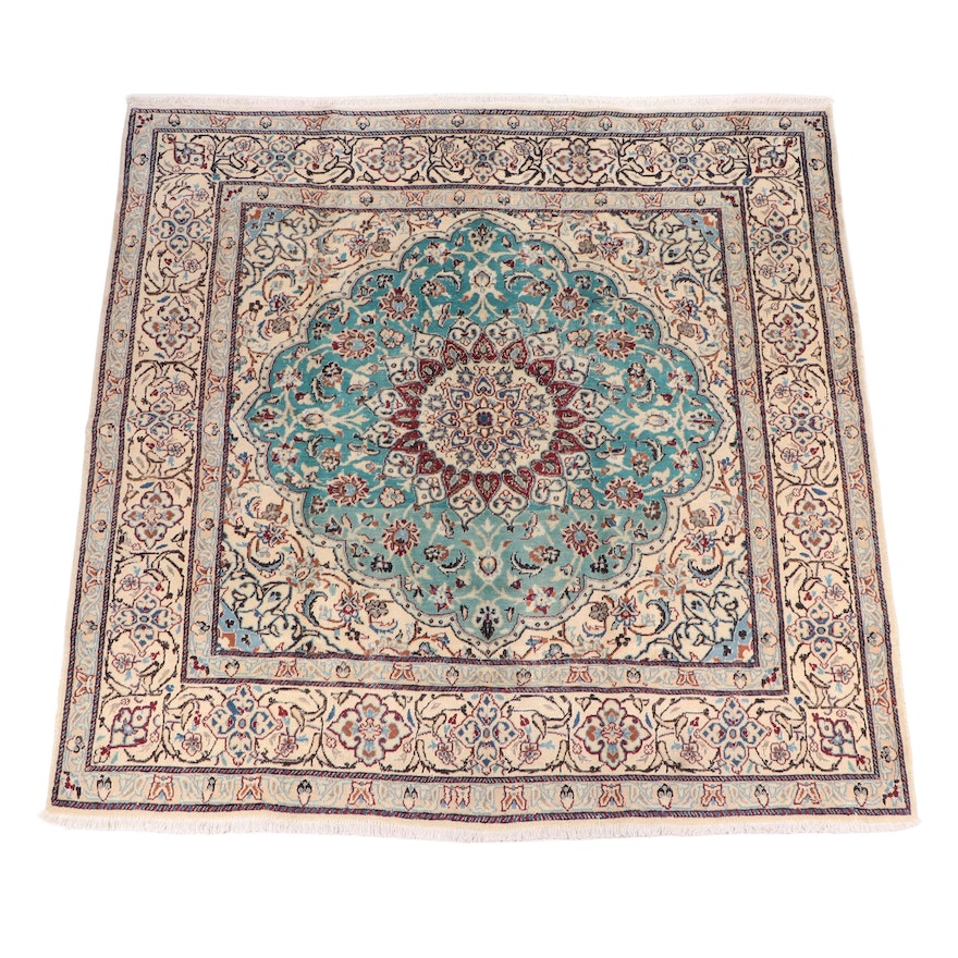 Hand-Knotted Persian Isfahan Wool Rug