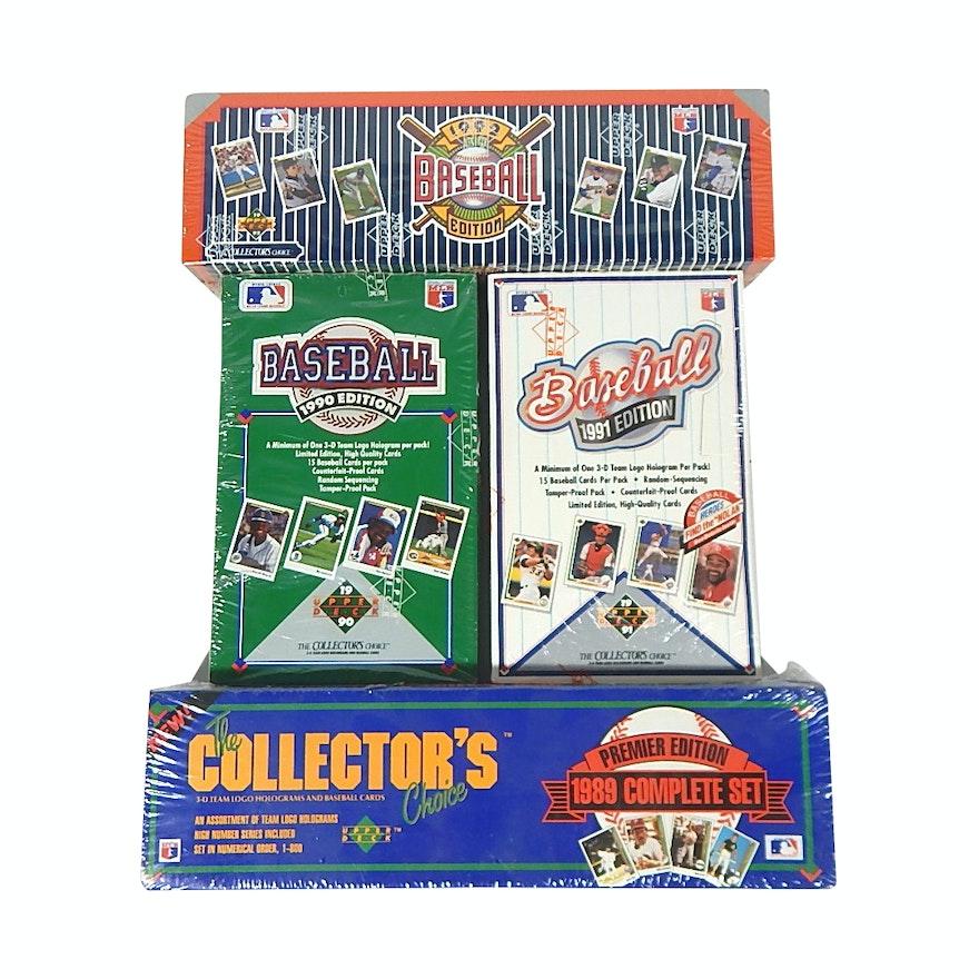 Upper Deck Factory Sealed Baseball Card Sets 1989 1990 1991 1992