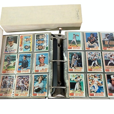 Four Complete Baseball Card Sets with Cal Ripken Jr. Rookie, 1982, 1984, 1987