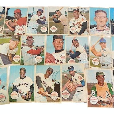 1967 Topps Baseball Pinups with Mays, McCovey, Fr. Robinson, Morgan
