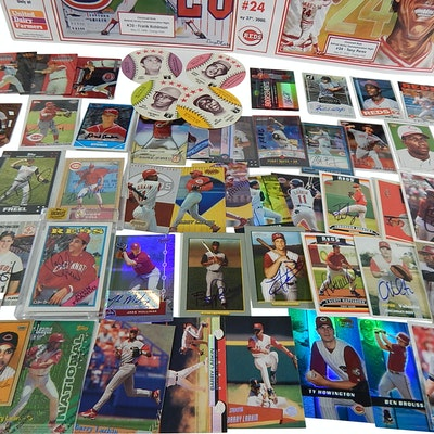 Cincinnati Reds Cards with Autographs, Inserts, Game Used, More