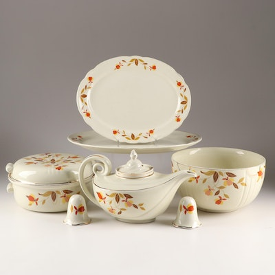 """Hall """"Autumn Leaf"""" Serving Pieces, Early to Mid 20th Century"""