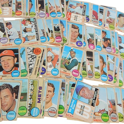 1968 Topps Baseball Cards with World Series Ribbon