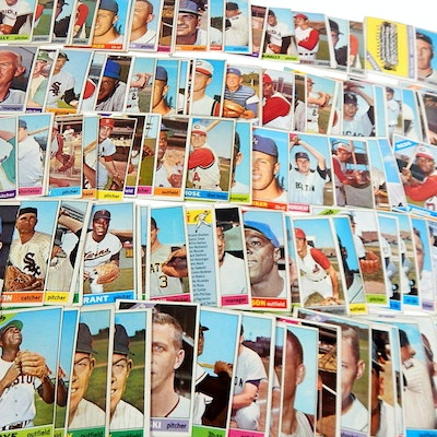 1966 Topps Baseball Cards with Koufax, Rose, Team Cards and More