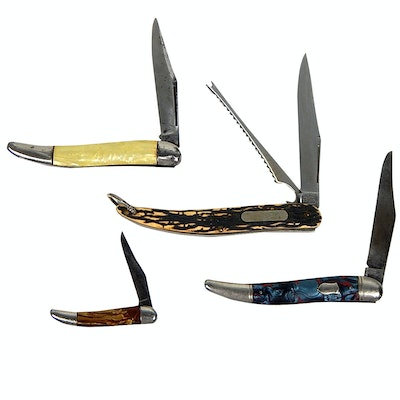 Folding Knives with Imperial, Schrade, Hammer Brand